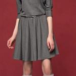 Romantické upletové šaty v šedé barvě Altea Grey
