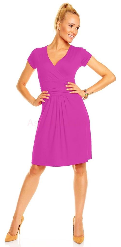 2e42e7c61b8 Šaty Nikola z příjemného a lehkého materiálu s mírně nařasenou sukní