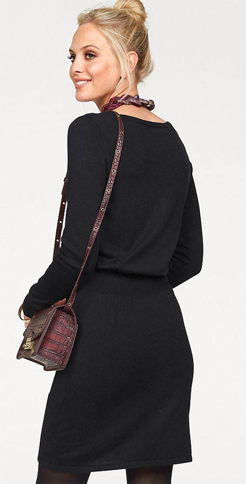 Černé šaty klasického střihu