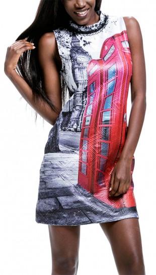 Dámské pozdrové šaty s dominantním motivem Londýna