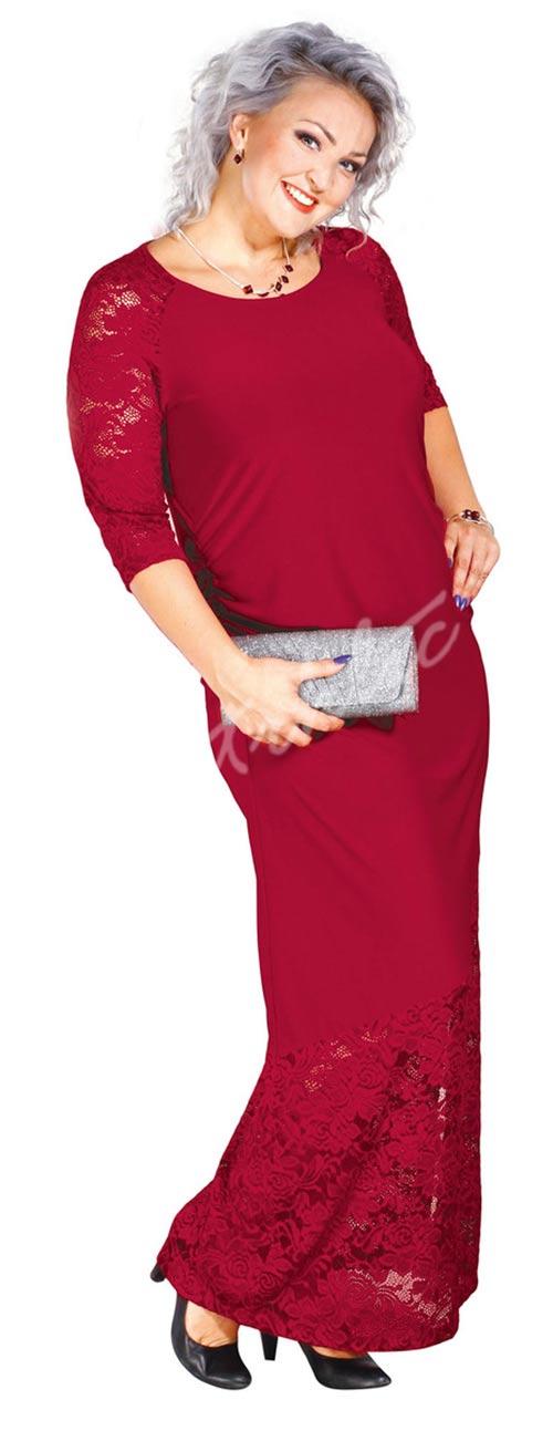 Dlouhé krajkové společenské šaty