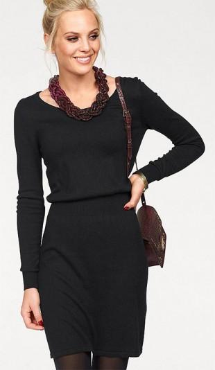 Hladké pletené šaty Melrose s elastickým pasem