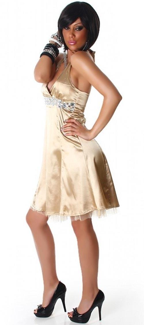 Šaty do tanečních zlaté barvy
