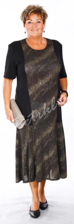 Společenské šaty s krátkým rukávem až do velikosti 5XL