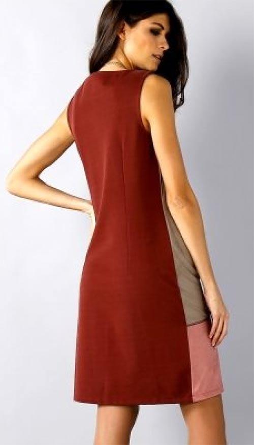 Volné dámské šaty volného střihu