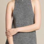 Volné úpletové zimní šaty k legínám