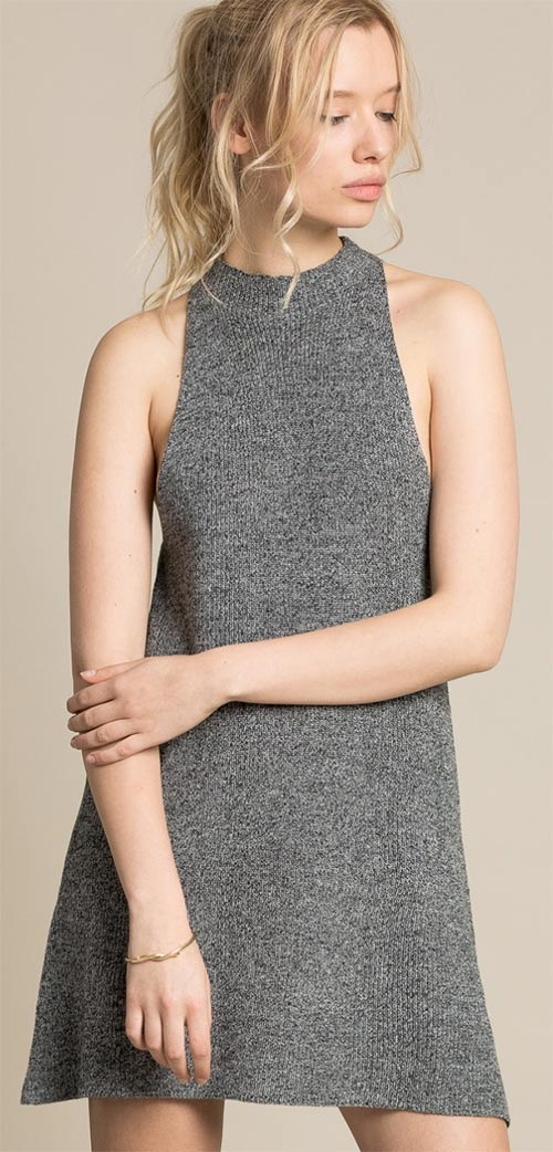 Volné úpletové zimní šaty k legínám cdc9d38348