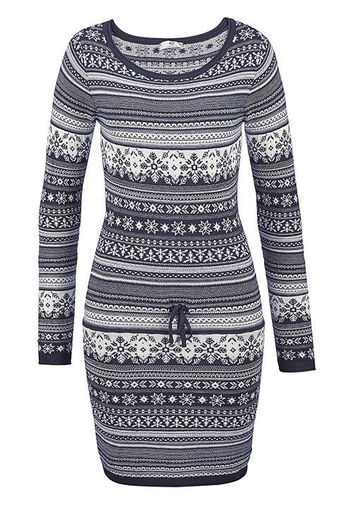 7771db300be Zimní dámské šaty