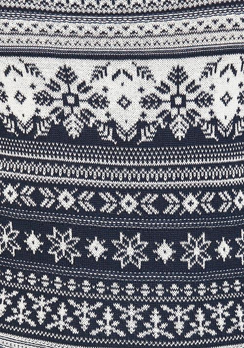 Zimní šaty s norským vzorem
