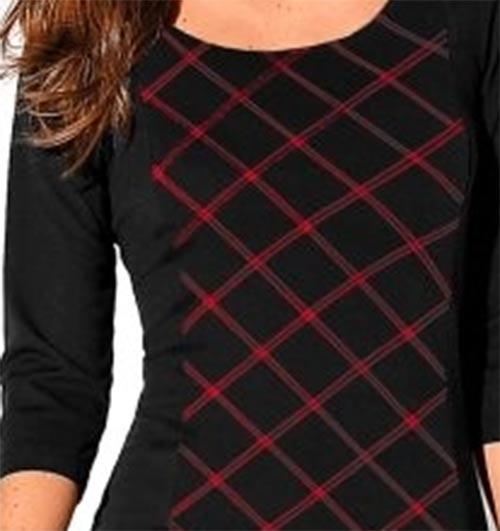 Černé šaty s károvaným vzorem