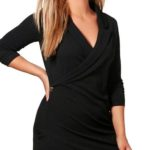 Černé zavinovací mini šaty