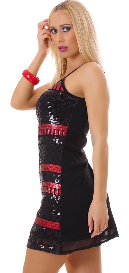 Černo-červené mini šaty