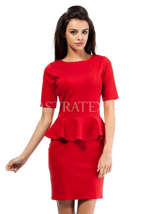 Elegantní šaty s volánkovou sukní 7001cf3c64