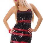 Lesklé dámské šaty na párty s flitry