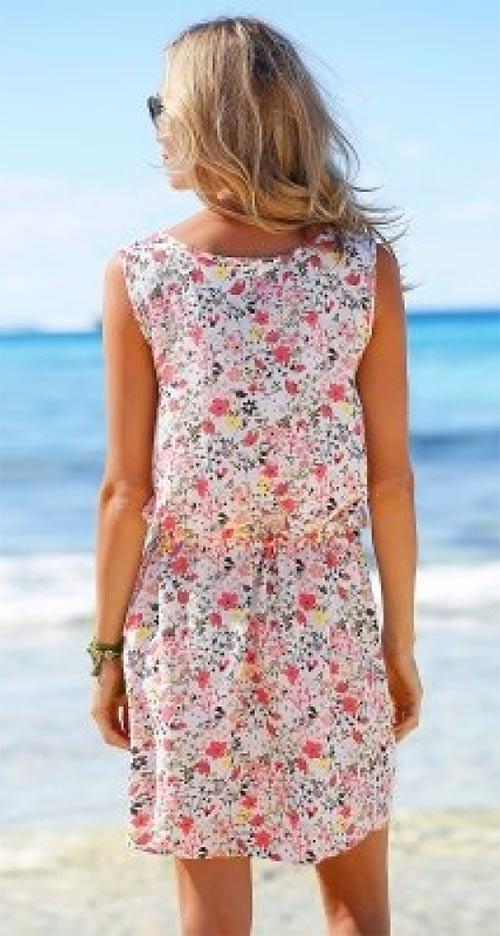 Letní šaty se šňůrkou v pase