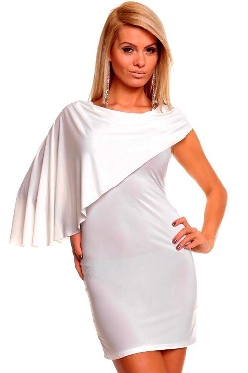 Moderní bílé šaty