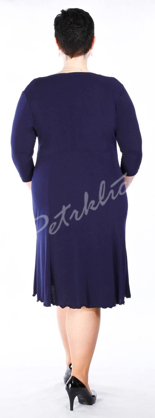 Modré společenské šaty velkých velikostí
