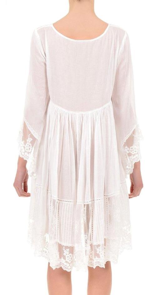 Průsvitné bílé letní šaty