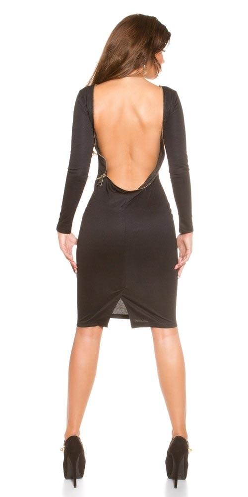 Šaty se zády zapínanými na zip