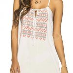 Bílé prodyšné plážové šaty Louisa
