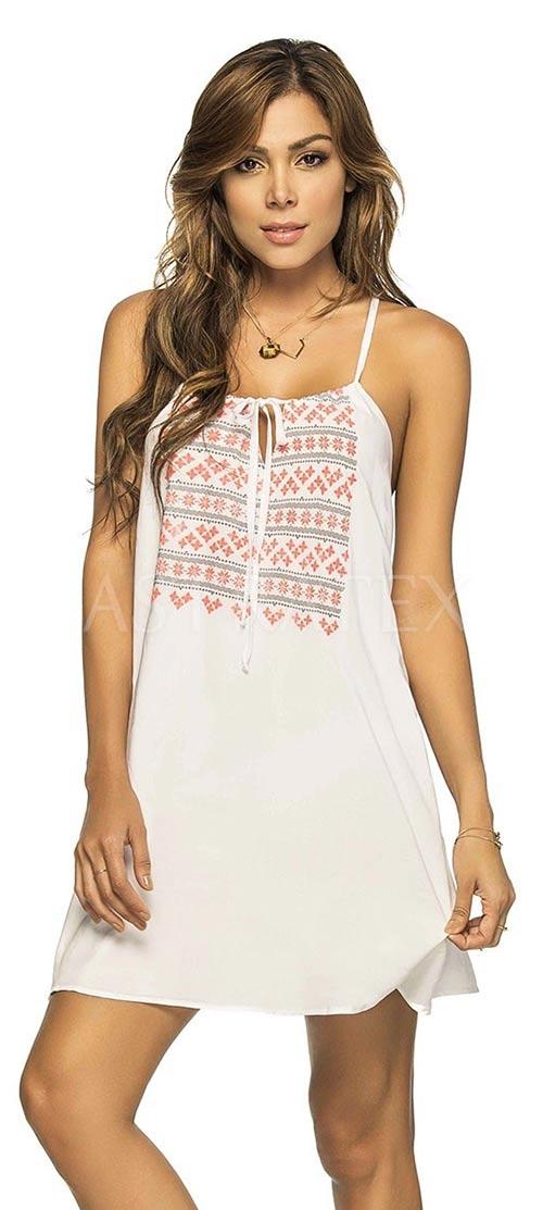 Bílé podyšné plážové šaty Louisa
