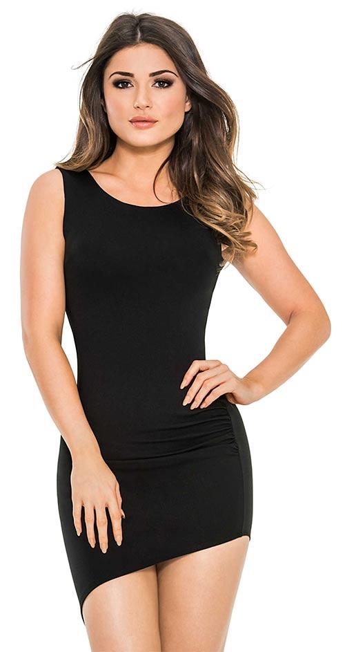Černé společenské asymetrické šaty