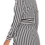 Pruhované šaty košilového střihu