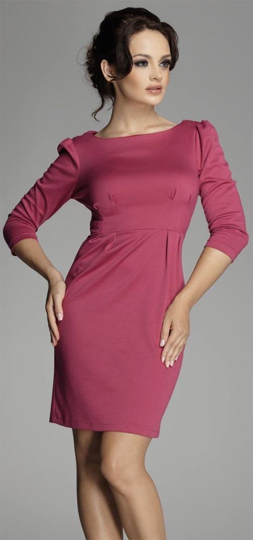 Starorůžové pouzdrové šaty