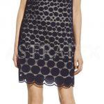 Dámské krajkové šaty s puntíkatým vzorem