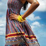 Lehoučké vzorované plážové šaty / sukně 2 v 1