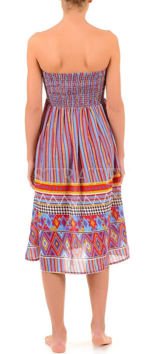 Letní šaty s etno vzorem