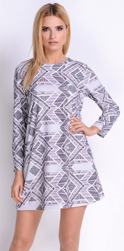 Šaty Avaro s geometrickým potiskem