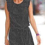 Šaty s trendy minimalistickým potiskem