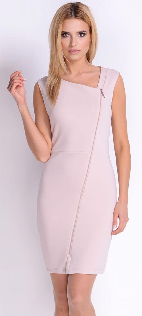 8117eb5b46d Elegantní šaty se zipem vpředu