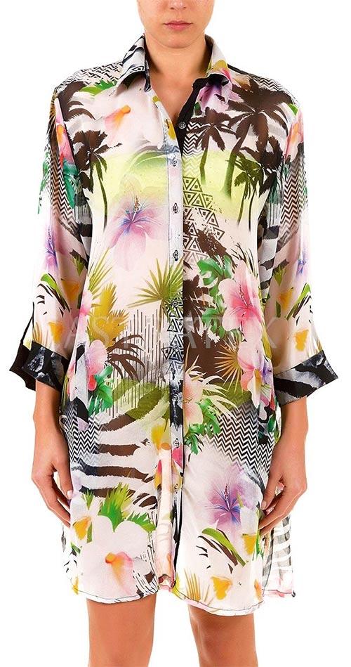 Košilové šaty na pláž
