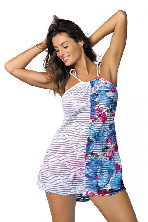 Krásná plážová tunika hravě zastoupí letní šatičky