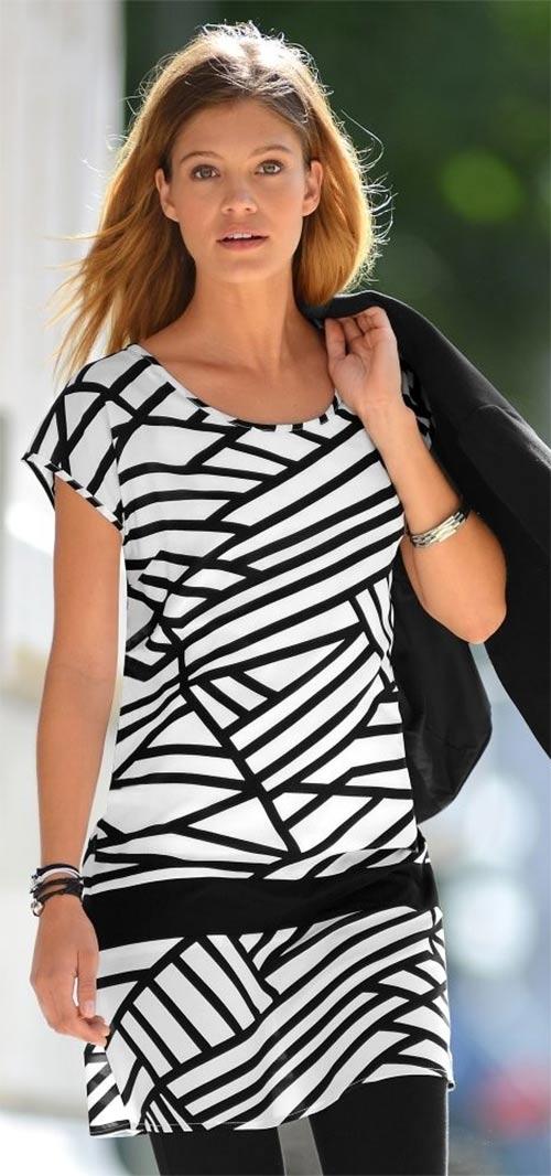 Letní šaty Blancheporte s grafickým potiskem