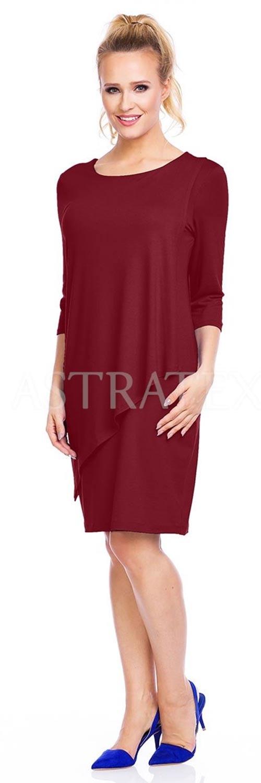 Bordó dámské šaty
