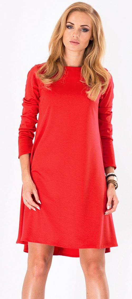 Červené šaty Makadamia M123
