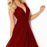 Červené šifonové šaty