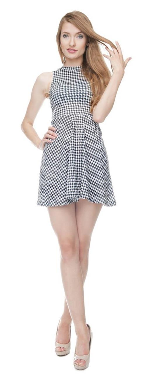 Dámské šaty fullprint Pepitka