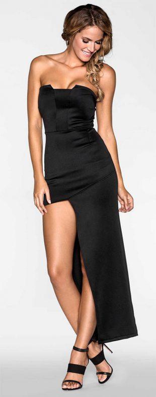 Elegantní večerní šaty k nošení bez podprsenky
