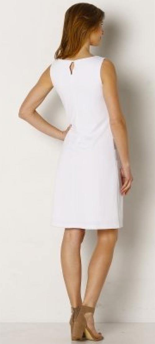Levné bílé dámské šaty