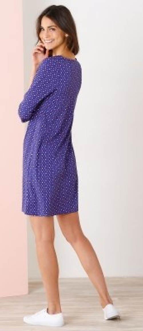 Ležérní modré šaty