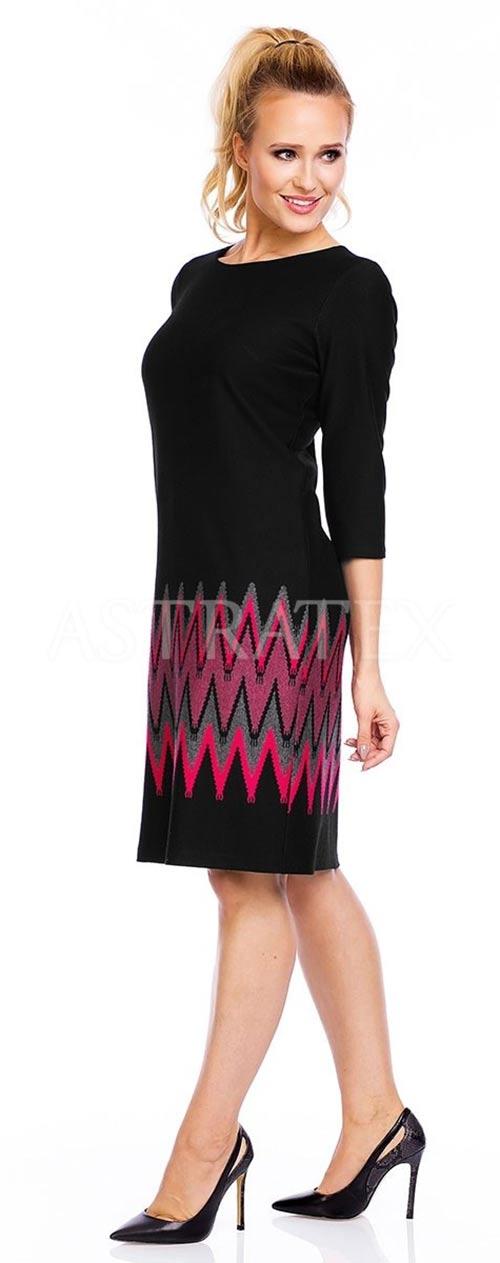 Pružné šaty ve velikostech pro plnoštíhlé