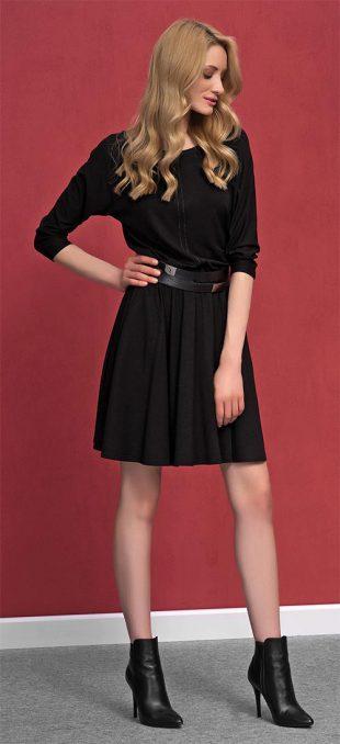 Romantické úpletové šaty Altea Black
