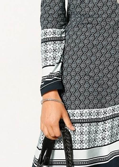 Šaty do práce s dlouhým rukávem