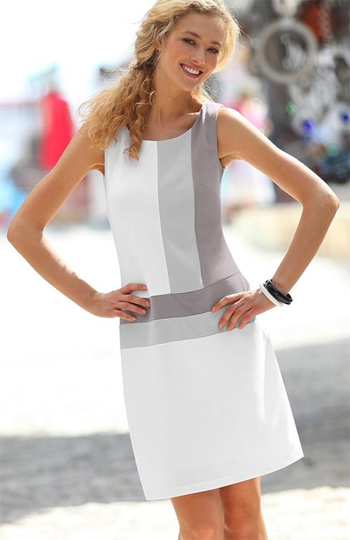 Šaty z úpletu Milano s grafickým vzorem
