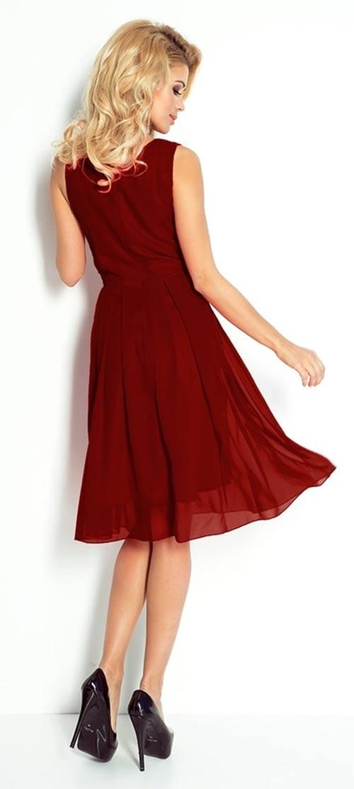 Šifónové šaty s volnou sukní