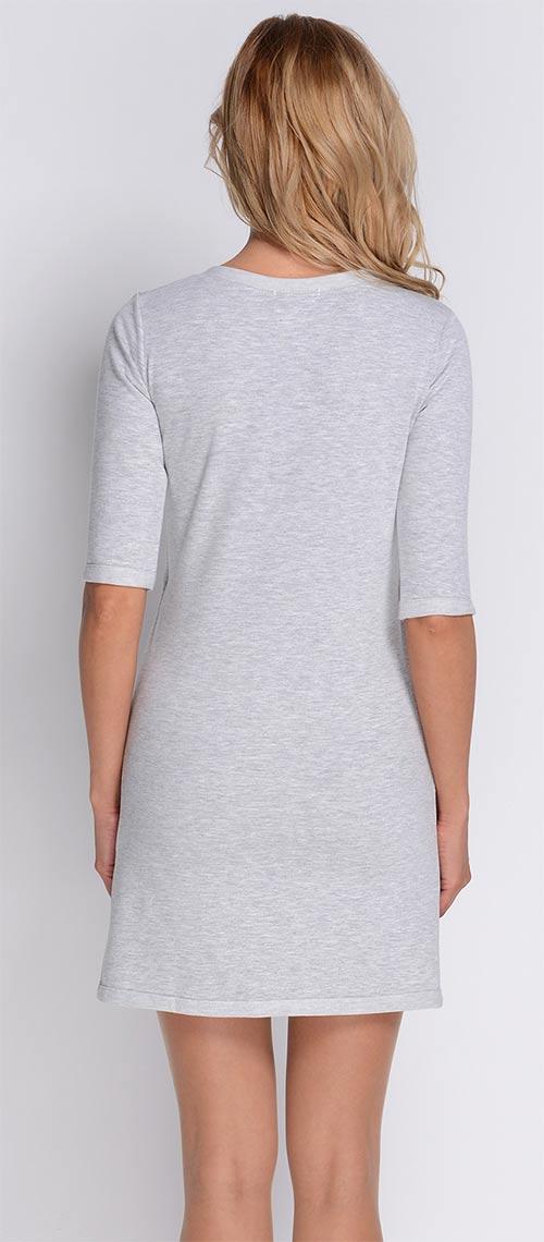 Světle šedé bavlněné šaty